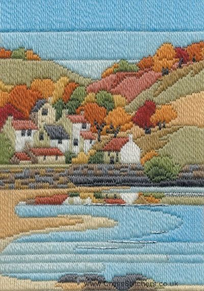 Coastal Autumn Long Stitch Kit from Derwentwater Designs