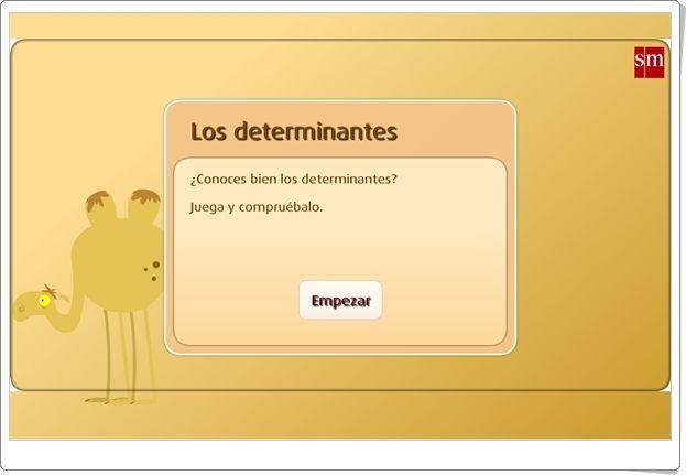 """""""Los determinantes"""" (Juego de clases de palabras de Primaria)"""