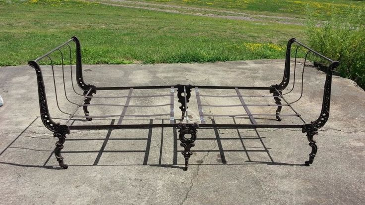 Antique Campaign Bed. Victorian Ornate Folding Bed  #Victorian