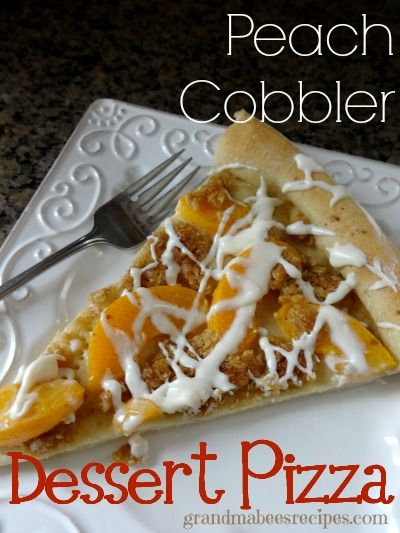 Peach Cobbler Dessert Pizza - I'm making this right now!