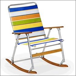 Want to see a smart adaptation of a existing favorite? Look no further than the folding portable rocking chair for RV and camping...