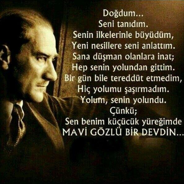 Türkiye Cumhuriyeti'nin kurucusu, özgürlük ve bağımsızlığımızın simgesi Ulu Önder Gazi Mustafa Kemal Atatürk'ü saygı, sevgi, şükran, gurur, özlem ve minnetle anıyoruz, arıyoruz. 10 kasım payidar Cumhuriyetimiz de yas değildir.Ölmeyen fikrimizde yaşıyorsun. Mekanın cennet, ruhun şad olsun, izindeyiz Atam... Olmasaydın olmazdık... #onkasim #MustafaKemalAtatürk #Atamizindeyiz
