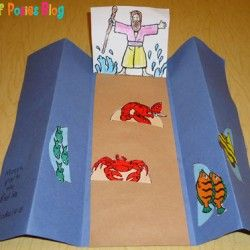 Sunday School Crafts: Moses and the Parting of the Red Sea