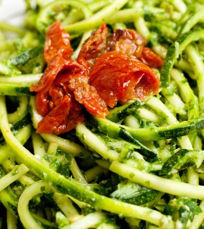 Raw Recipe – Pasta and Pesto - Looking for some quick and easy raw food recipes? Love the raw food lifestyle but missing some favourites like pasta dishes? Our raw food expert Rebecca Kane shares her delicious take on Pasta and Pesto.