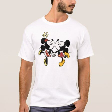 Mickey and Minnie Kissing T-Shirt - click to get yours right now!