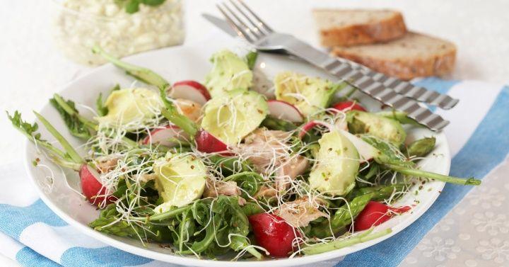 Mandag - Kyllingsalat med avokado og cottage cheese fra Melk.no