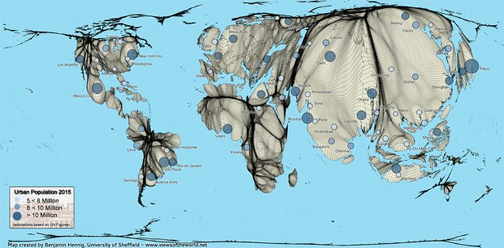 Geography for 2014 and Beyond. World Clock showing various features of population in real time
