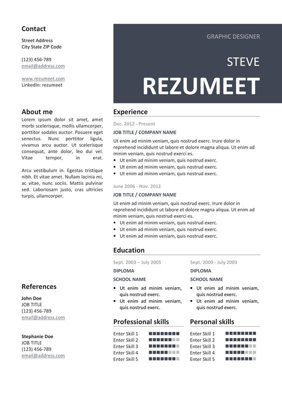 The  Best Images About Classic Resume Templates On