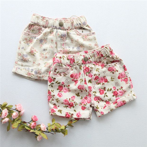 Find More Shorts Information About PT4015 Girl Summer Floral Cotton 2 6yHigh Quality