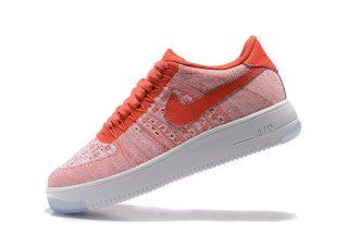 9bd19d27f3ee Nike Air Force 1 Ultra Flyknit Low Gym Red Sail 817420 605 Womens Sneakers