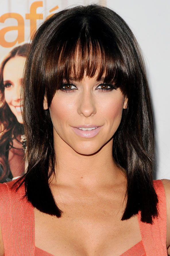Hairstyles For Medium Length Hair Bangs : 23 best with the fringe on top images pinterest