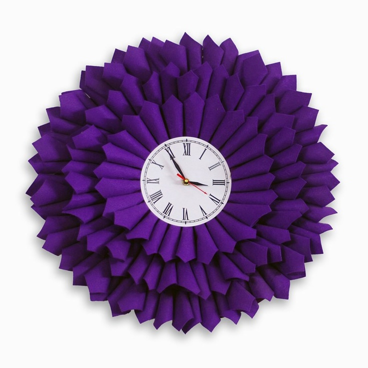 Bloom Purple Clock by Ichbaan,India.