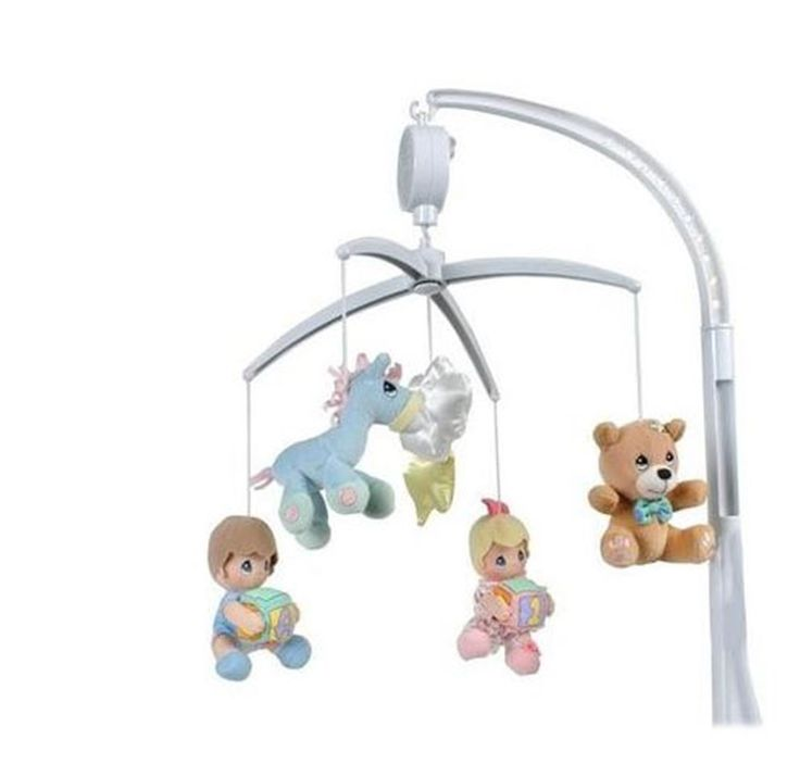 Precious Moments Nursery Baby Decor Luv N' Care Plush Musical Mobile