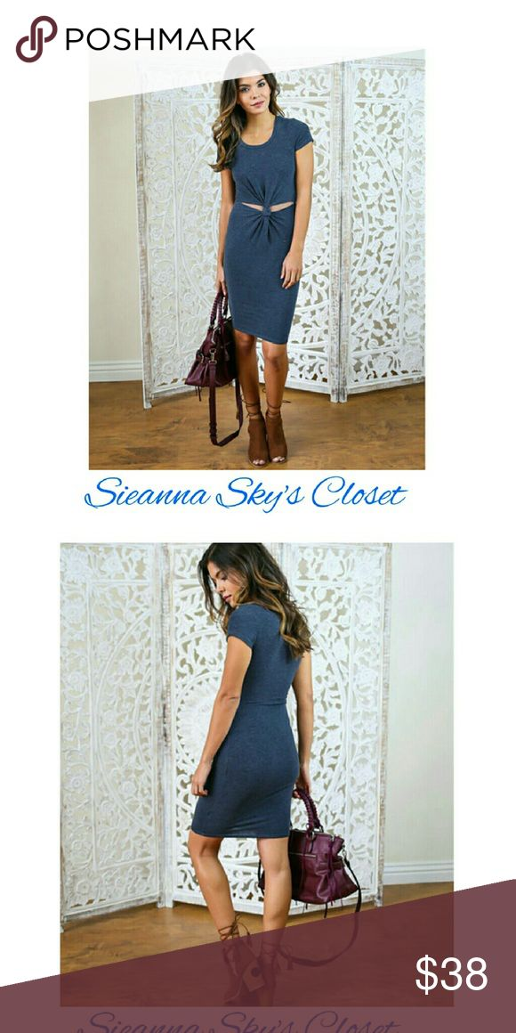 Gorgeous casual dress Gorgeous blue casual dress. Material is spandex /cotton. Price is firm unless bundled. boutique Dresses Midi