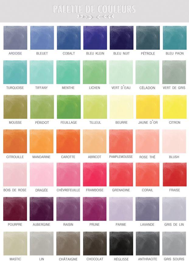 nuancier couleurs de mariage