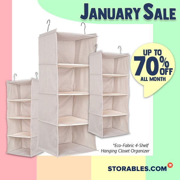 Eco Fabric 4 Shelf Hanging Closet Organizer In 2020 With Images