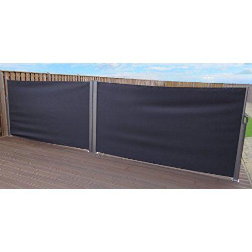Retractable Side Awning Outdoor Screen Panel | 160 x 300 cm | Cream / Grey | SORARA | 250 g/m² Polyester | 11 kg | Garden Terrace Patio: Amazon.co.uk: Garden & Outdoors