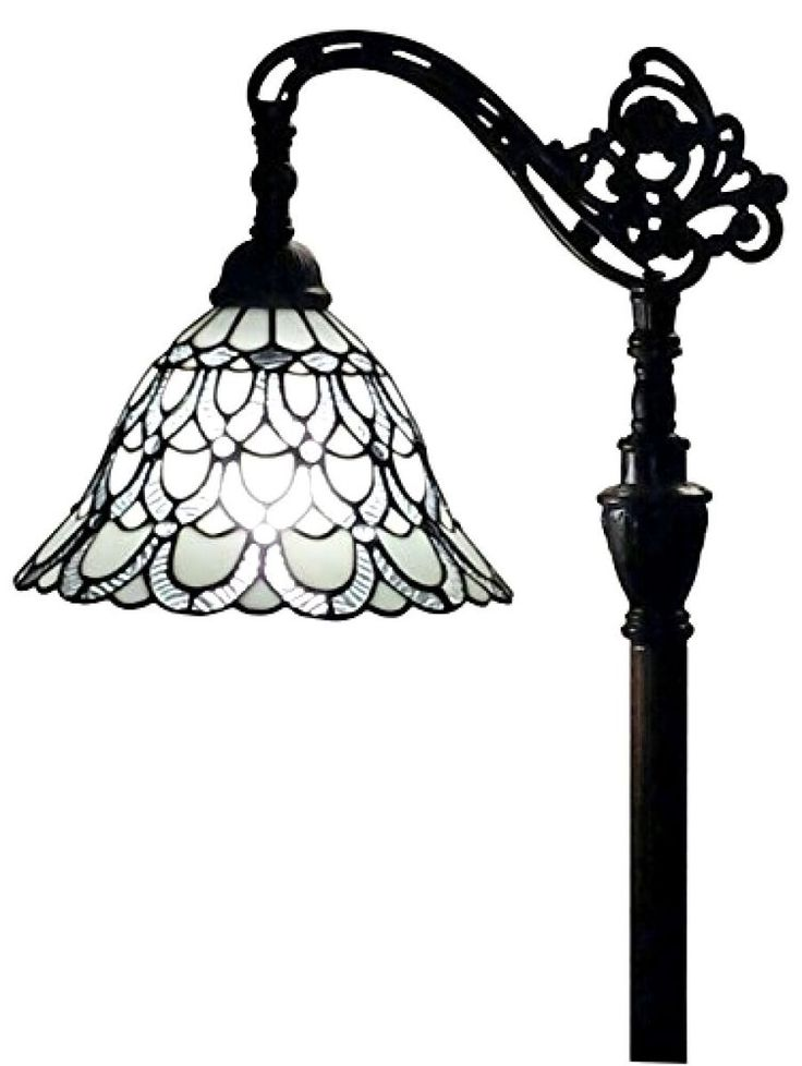 Stained Glass Floor Lamp Accent Light Art Deco Mission Craftsman Victorian Read #AmoraLighting