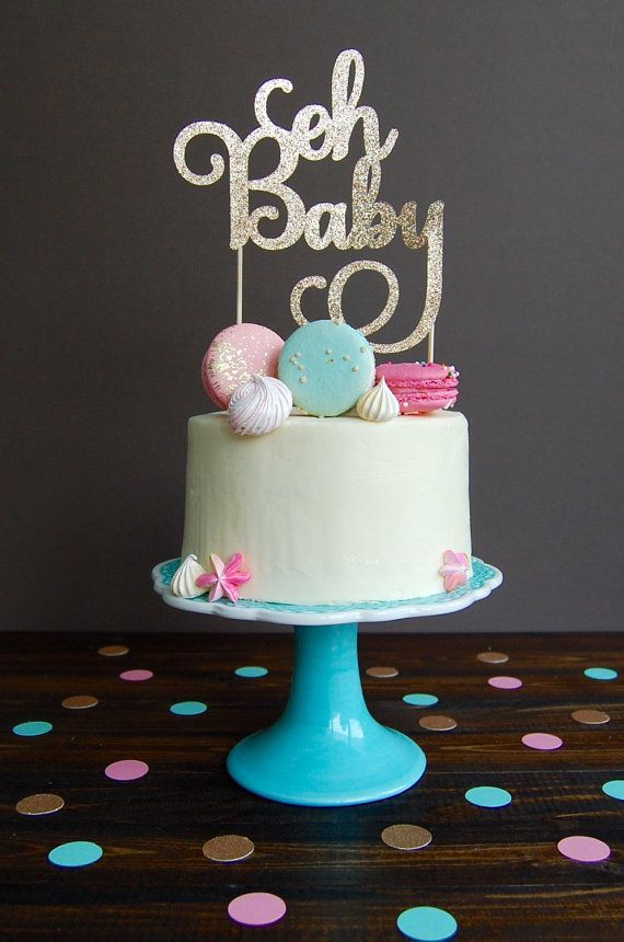 This listing is for one oh Baby cake toppers  This adorable cake topper is approximately 6W x 7H not including the wooden stick. It is made of