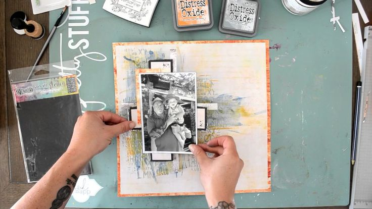 Our Time Together Layout featuring Distress Oxide Inks