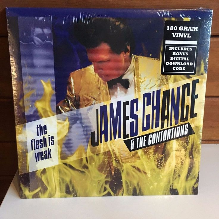 JAMES CHANCE CONTORTIONS Flesh Is Weak LP 2017 180 gram SEALED w/dwnload NO WAVE #AlternativeIndiePunkNewWave