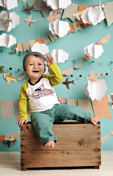 Cloudy Day Airplanes by PepperLu on Etsy, $89.99