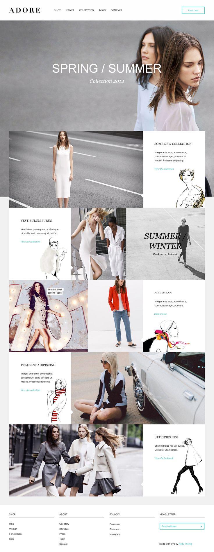 fashion webdesign