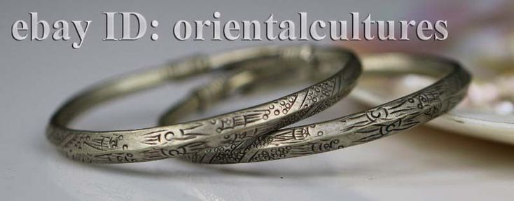 Tribal exotic chinese hand-carved miao silver bracelet (pair)  | eBay