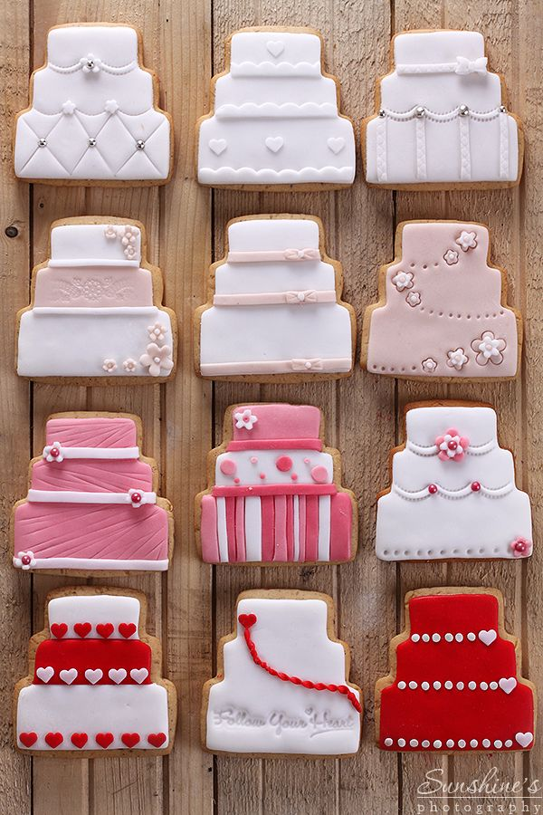 Wedding cake cookies by *kupenska on deviantART