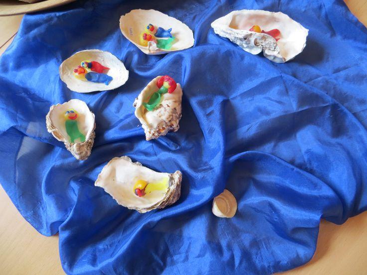 oesterschelpen en zeemeerminnen