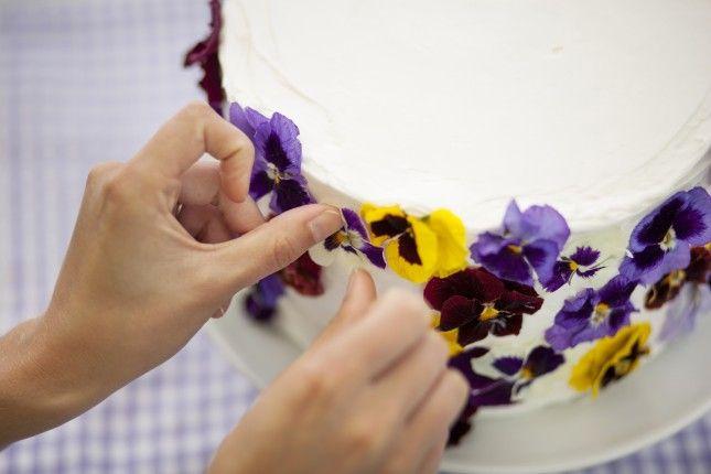 Edible Flower Cake | Brit + Co.