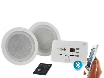 Buy in wall bluetooth amplifier with ceiling speakers clever little box great home decor for Ceiling speakers for bathroom