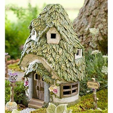 """14"""" Solar Cottage - Leaf Roof"""