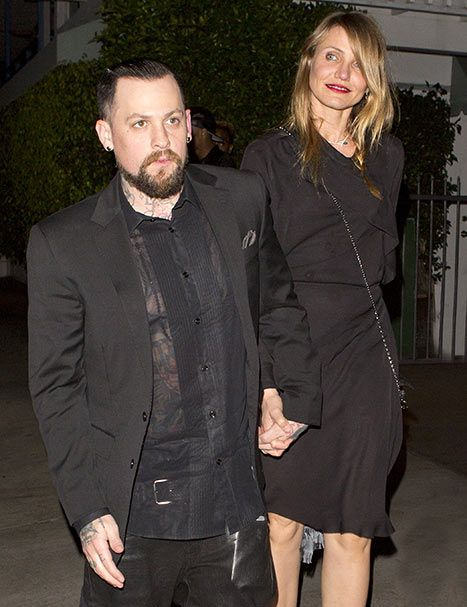Cameron Diaz and her new husband Benji Madden went on a double date with Nicole Richie and Joel Madden for Valentine's Day