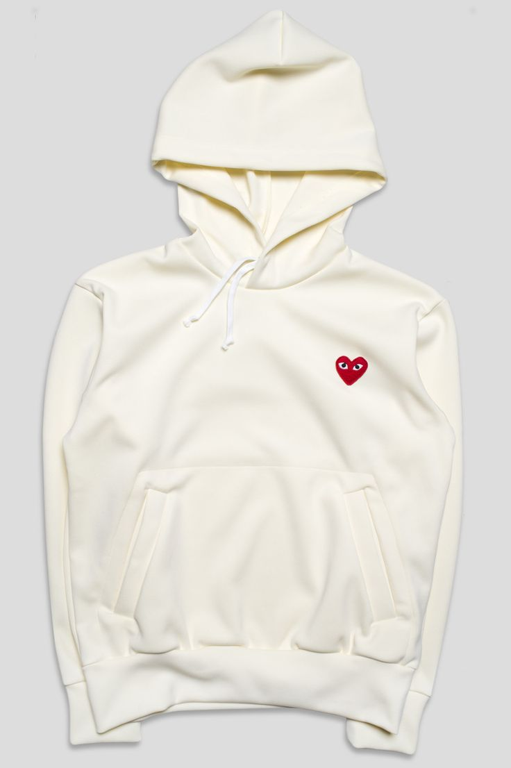 COMME DES GARCONS PLAY SWEATSHIRT IVORY