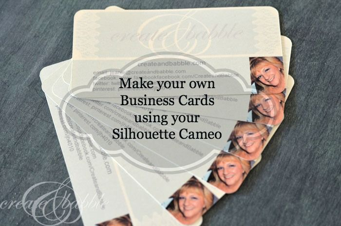 Make Your Own business cards using print-and-cut on your Silhouette.  Good to know!