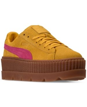 2c8b7bb13b23 PUMA WOMEN S FENTY X RIHANNA SUEDE CLEATED CREEPER CASUAL SHOES FROM FINISH  LINE.  puma  shoes