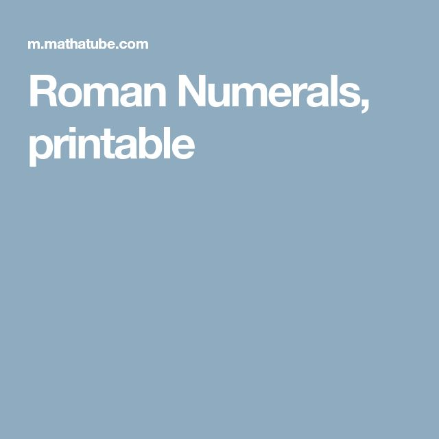 Best 25+ Roman numerals chart ideas on Pinterest Numbers in - roman numeral chart template