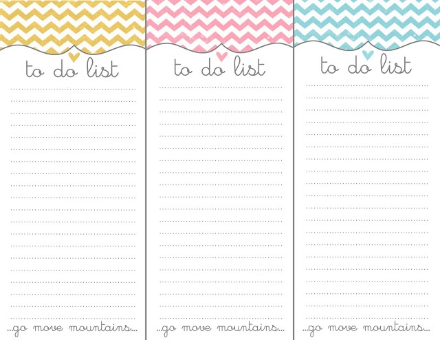 Free To Do List Printables