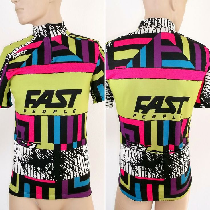 Cycling Jersey Mens Size M cycle Shirt Fast People Italy Vintage VGC Racer