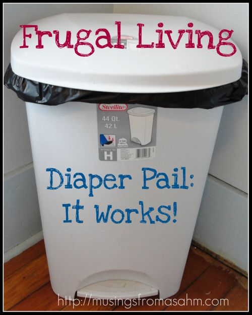 Nice idea for a diaper pail -- Dude. Save your money on those stupid diaper genie contraptions. Get a cheap lidded trash can and throw it out when it gets totally gross.