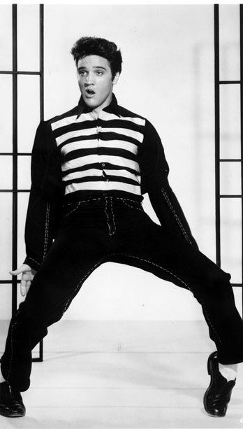 """Publicity photo of the movie, featuring Presley during the dance sequence of """"Jailhouse Rock"""""""