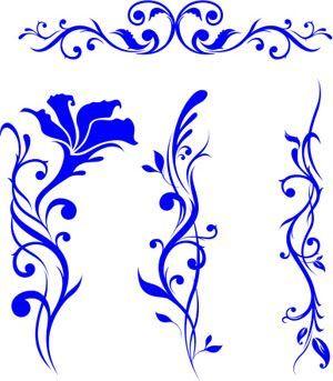 Beautiful flower vine tattoo designs.