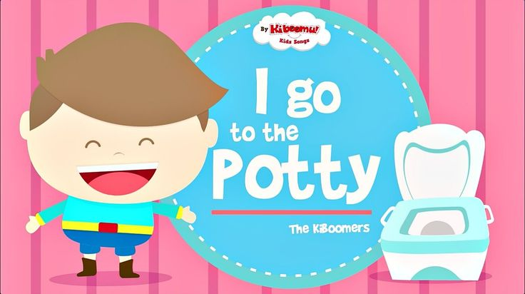 Potty Song for Kids! Super fun and motivating potty chant for infants and toddlers. Be sure to check it out! #potty #kidssongs