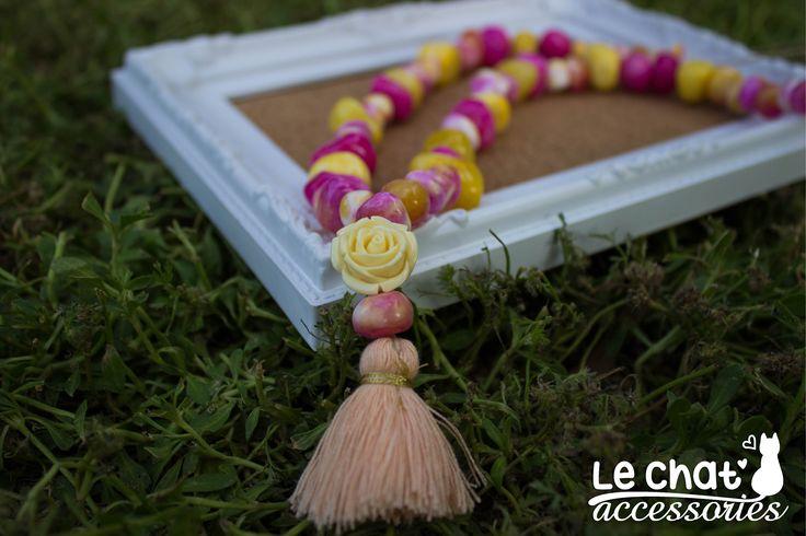 Καινούργιο μακρύ κολιέ για τους λάτρεις των έντονων χρωμάτων, με πέτρες νεφρίτη!   #lechataccessories #summercolours #summervibes #tasselnecklace #longnecklace #fuchsia #yellow  © Danae Lolou  Find me on Facebook & Instagram : Le Chat Accessories for more photos. https://www.facebook.com/lechataccessoriesdanae/  https://www.instagram.com/lechataccessories/