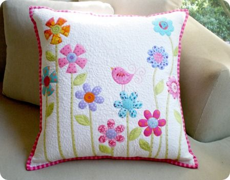 Almofada flower garden #sew #patterns