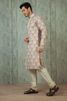 Linen kurta churidar with dhori work from #Benzer #Benzerworld #MensWear #IndoWesternWearForMen