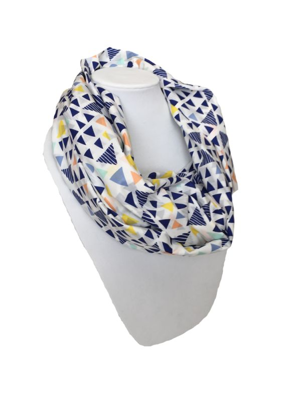 Get wrapped up with the one you love! Liv & Lila Nursing Scarf converts to a full coverage nursing cover, to provide maximum privacy while you breastfeed away from home.  Sheer to the touch, but not sheer to the eye.  Made in USA.
