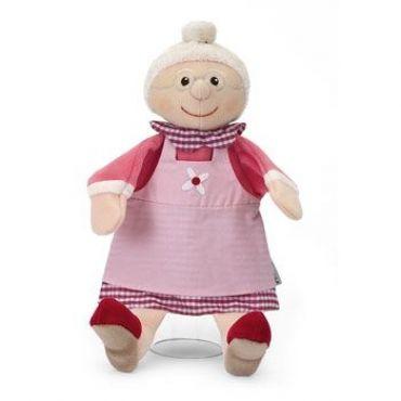 Sterntaler GroßmutterGröße ca.28 cmSicherheit beim Spielen ist wichtig. Der Puppenkopf unserer Figuren ist deshalb aus Stoff und nicht aus Holz.Sterntaler Handpuppen sind nicht nur weich und kuschelig, sondern auch aus schadstofffreiem Material....