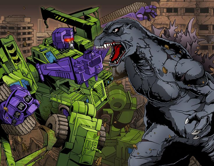 Who in their right mind would NOT want Godzilla to team up with the Autobots? | Godzilla vs Devastator by Ahrrr on DeviantArt